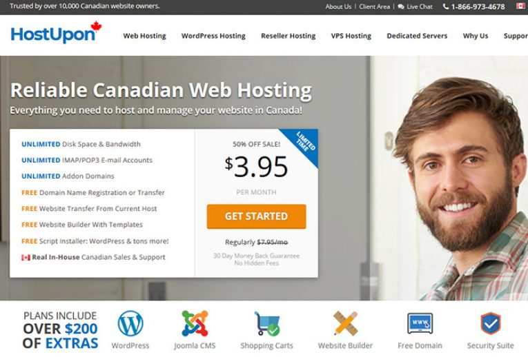 Hostupon Canadian Web Hosting